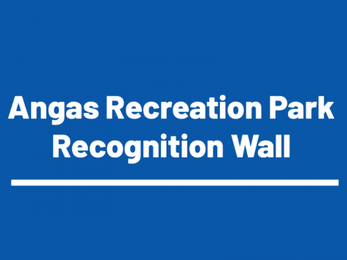 Angas Recreation Park Recognition Wall